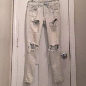 American Eagle Distressed TomGirl Jeans.